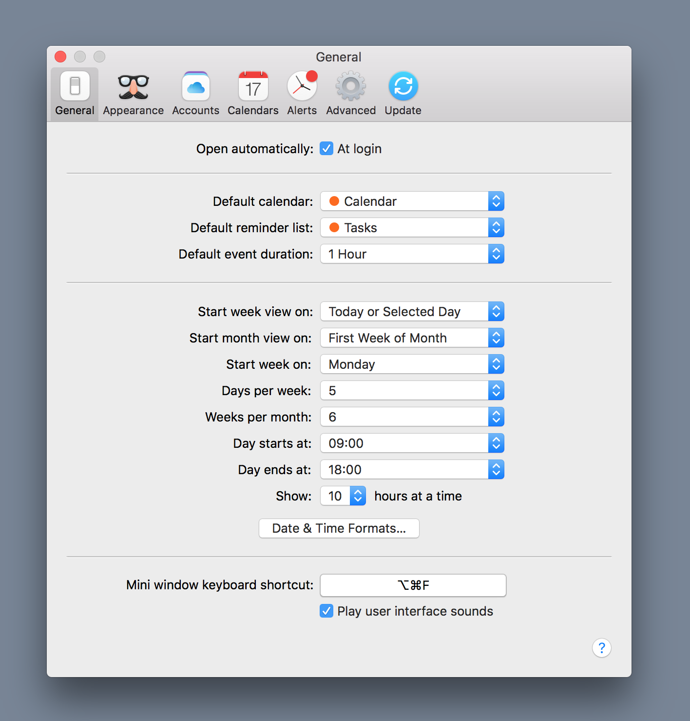Flexibits | Fantastical 2 for Mac | Help